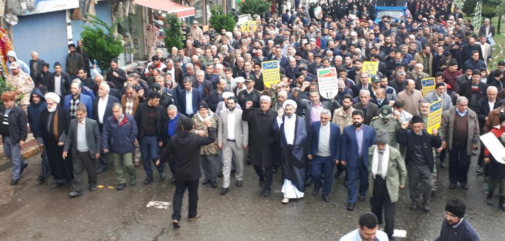 راهپیمایی بزرگ مردم  ولایتمدار سیاهکل در حمایت از امنیت و اقتدار کشور