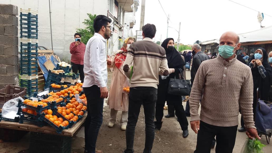 """اجرای نمایش خیابانی """"بازار کرونایی"""" در شهر سیاهکل"""