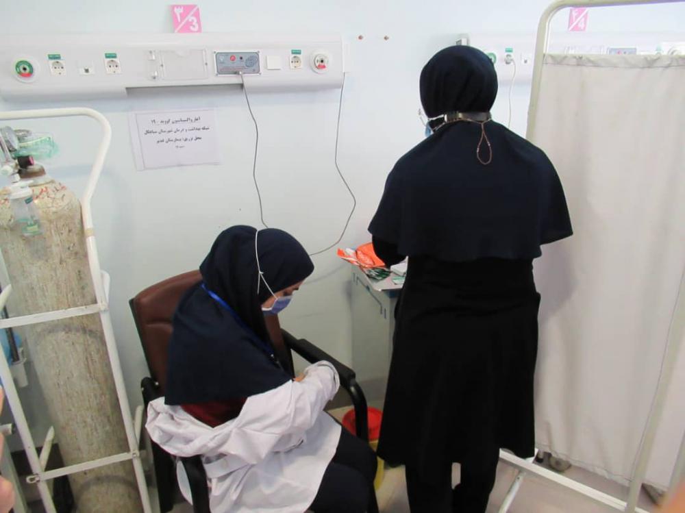 انجام واکسیناسیون کادر درمانی شهرستان سیاهکل